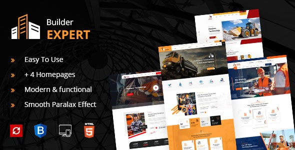 Builder Expert - Construction and Architecture HTML Template - Business Corporate