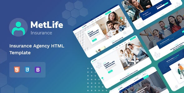 Metlife - Insurance Agency HTML Template - Business Corporate