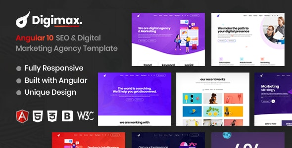 Digimax - Angular 10 SEO & Digital Marketing Agency Template - Marketing Corporate