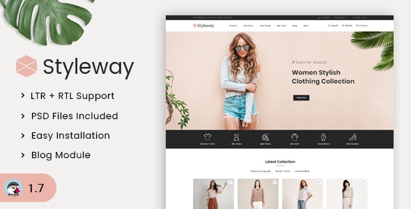 Styleway - Trendy Online Fashion Prestashop 1.7 Responsive Theme - Fashion PrestaShop