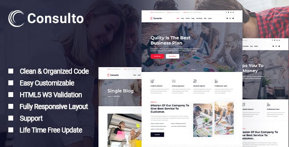 Download Consulto - Consulting Business HTML5 Template