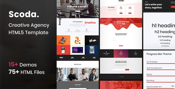 Scoda  - Multipurpose One Page HTML5 Template - Creative Site Templates