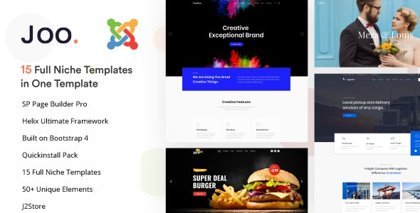 Joo - Niche Multipurpose Joomla Template With Page Builder - Business Corporate
