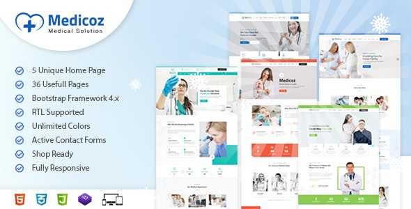 Medicoz | Clinic & Hospital HTML Template - Health & Beauty Retail