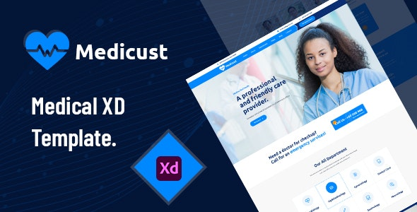 Medicust - Health and Medical XD Template - Health & Beauty Retail