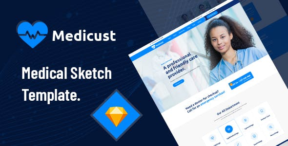 Medicust - Health and Medical Sketch Template