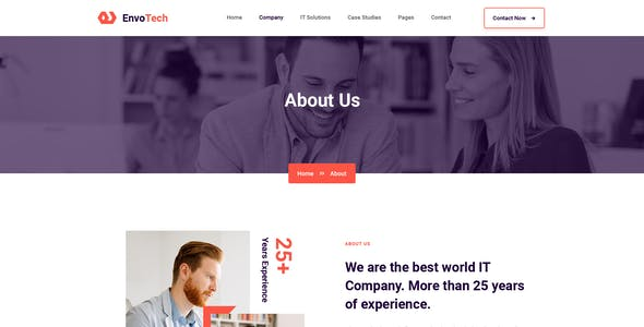 EnvoTech - IT Solution and Services XD Template