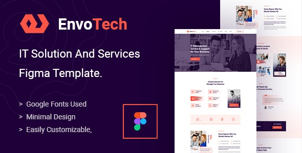 EnvoTech - IT Solution and Services Figma Template - Technology Figma