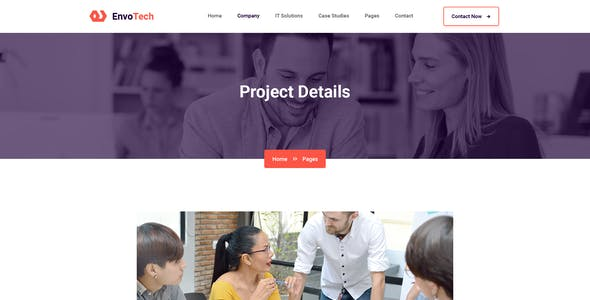 EnvoTech - IT Solution and Services Figma Template