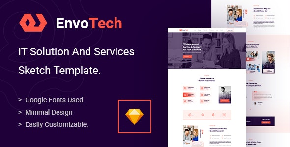 EnvoTech - IT Solution and Services Sketch Template - Technology Sketch