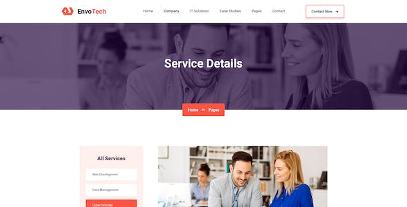 EnvoTech - IT Solution and Services Sketch Template