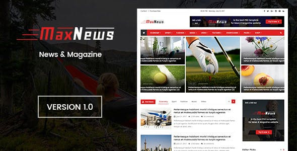 Download MaxNews | News & Magazine Joomla Template