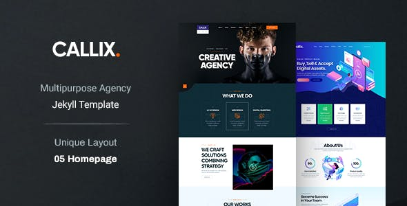 Callix Multipurpose Creative Jekyll Template