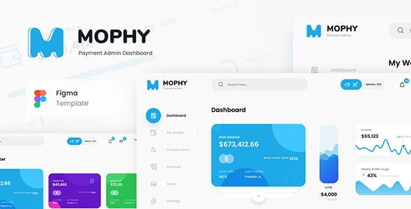 Mophy - Payment Admin Dashboard UI Template Figma
