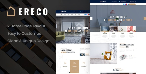 Ereco - Architecture PSD Template - Business Corporate