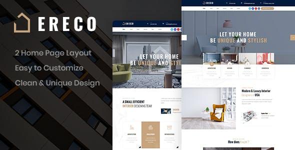 Ereco - Architecture PSD Template