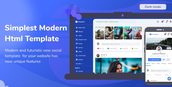 Simplest - Online Community HTML Template - Site Templates