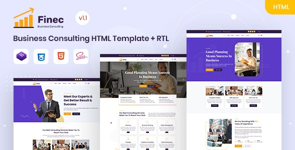 Finec - Business Consulting HTML Template - Business Corporate