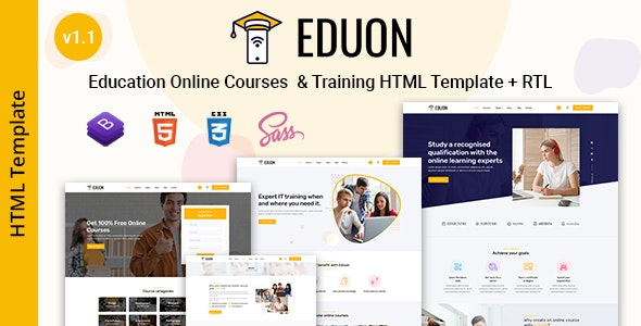 Eduon - Online Courses & Training HTML Template - Business Corporate