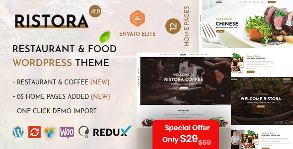Ristora - Restaurant & Food WordPress Theme - Restaurants & Cafes Entertainment