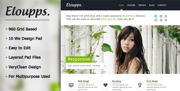 Eloupps: Agency / Corporate Business Theme - Business Corporate