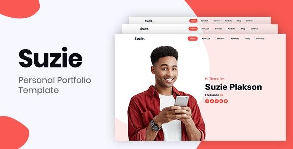 Suzie – Bootstrap 4 Personal Portfolio - Personal Site Templates