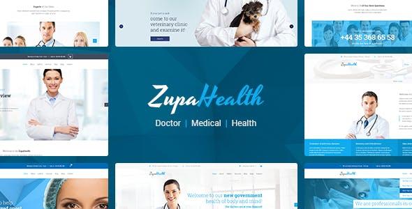 ZupaHealth – Medical and Health Joomla Template