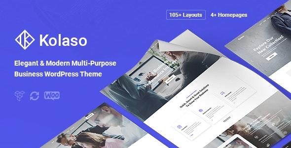 Kolaso - Modern Multi-Purpose WordPress Theme - Business Corporate