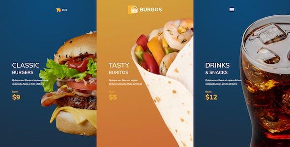 Burgos – Street Food Template for Figma