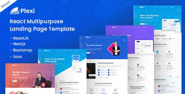 Plexi - React Multipurpose Landing Page Template - Corporate Site Templates