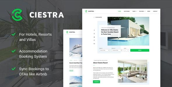 Resort Hotel WordPress Theme - Ciestra - Real Estate WordPress