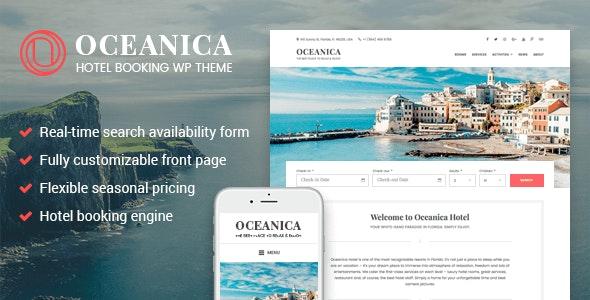 WordPress Hotel Theme - Oceanica - Travel Retail
