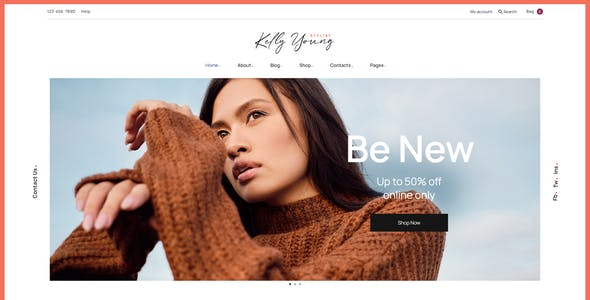 Kelly Young - Personal Stylist WordPress Theme