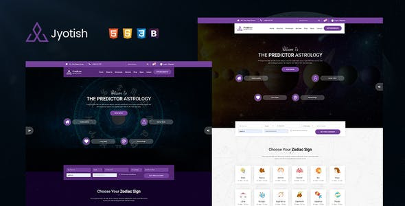 Jyotish - Astrology and Numerology HTML Template