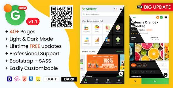 Download Grofar - Online Grocery Supermarket HTML Mobile Template