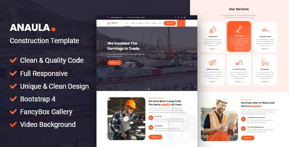 Anaula - Construction Template - Business Corporate