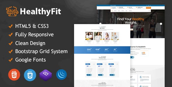 Download HealthyFit - Weight Loss HTML5 Responsive Template