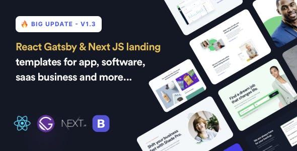 ShadePro - React Gatsby & Next Landing Page Template
