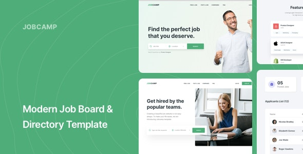 Jobcamp - Job Board & Directory Responsive Template - Miscellaneous Site Templates