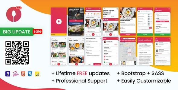 Swiggi - Online Food Ordering Website Mobile Template - Mobile Site Templates