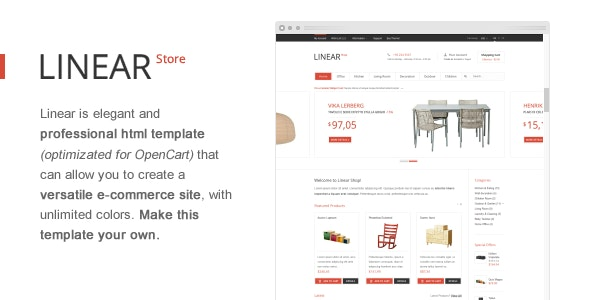 Linear Store – Premium HTML OpenCart Design  - Shopping Retail