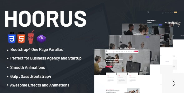 Hoorus - One Page Parallax - Portfolio Creative