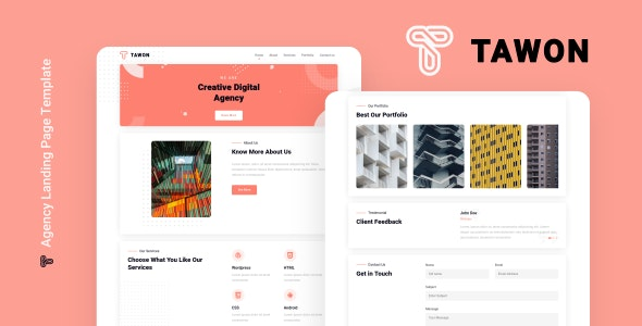 Tawon - Agency Landing Page Template - Business Corporate