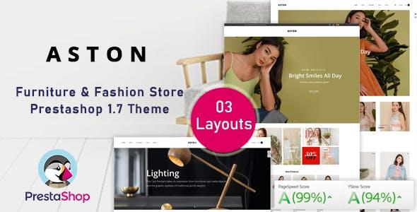 Aston - Fashion Ecommerce Prestashop Theme for Furniture & Clothes