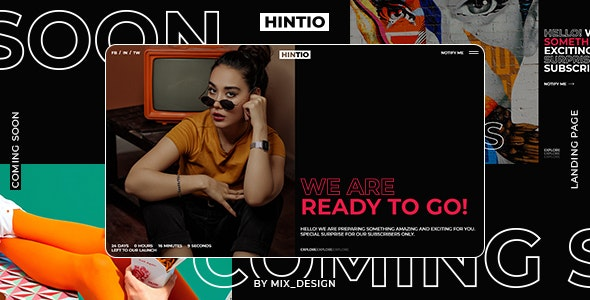 Hintio - Coming Soon & Landing Page Template - Under Construction Specialty Pages