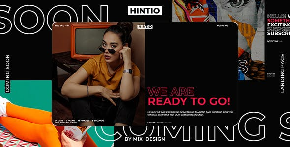 Download Hintio - Coming Soon & Landing Page Template