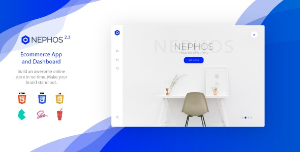 Nephos - Modern Bulma Ecommerce Frontend - Admin Templates Site Templates