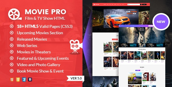 Movie Pro - TV Show and Production House HTML template - Film & TV Entertainment