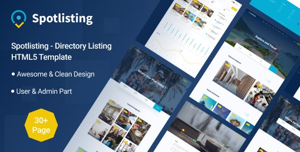 Spotlisting - Directory Listing HTML5 Template - Business Corporate