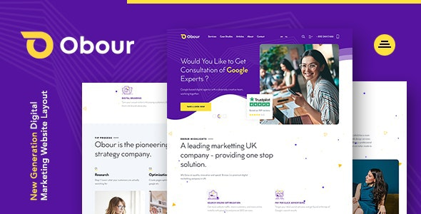 Obour | New Age Digital Marketing Agency Joomla Template - Marketing Corporate